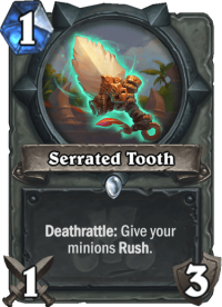 serrated tooth