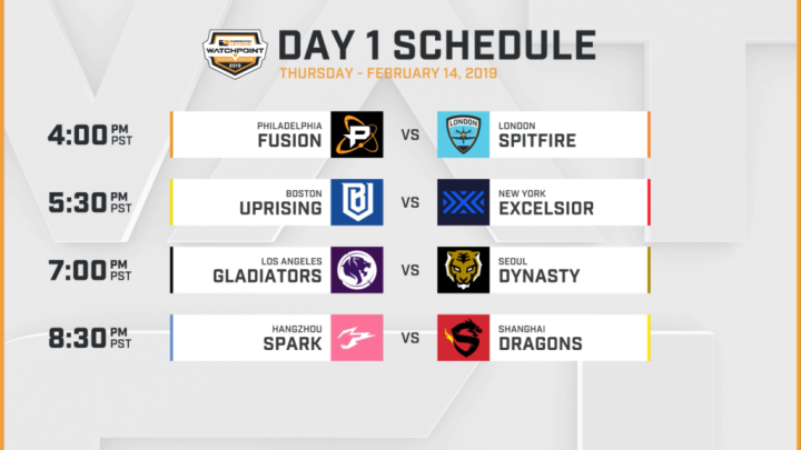 OWL week one schedule